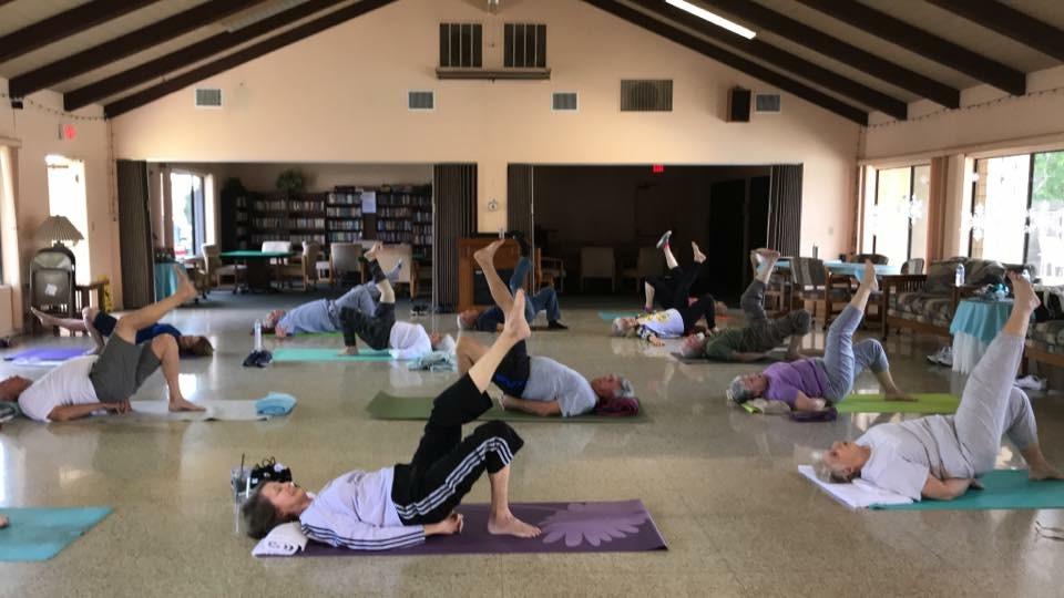 Los Amingos Yoga Class